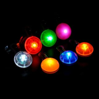 2 Dog Cat LED Flashing Collar Safety Night Light Pendant