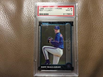 GRADED ROY HALLADAY 1999 Bowman Chrome Baseball Card TORONTO BLUE JAYS PSA 9 MINT