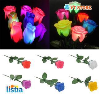 Popular LED Lights Rose Flower Lamp Garden Yard Outdoor Path Lawn Power Xmas Decor Rose Flower Lamp