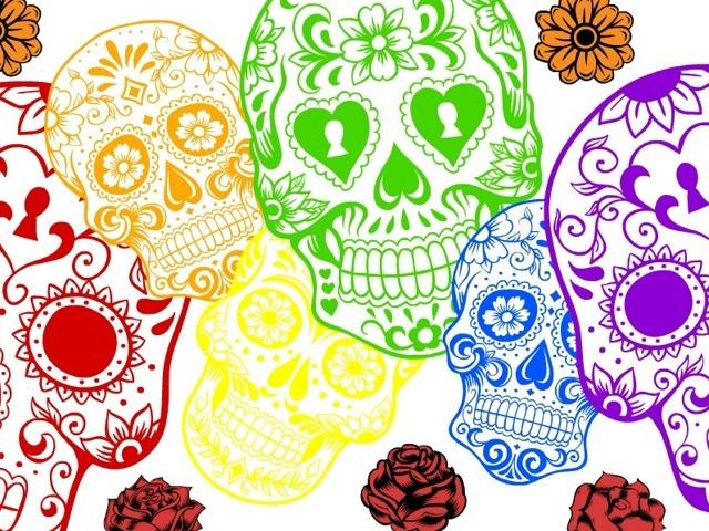 Free sugar skull wallpaper other art auctions for free stuff - Sugar skull background ...