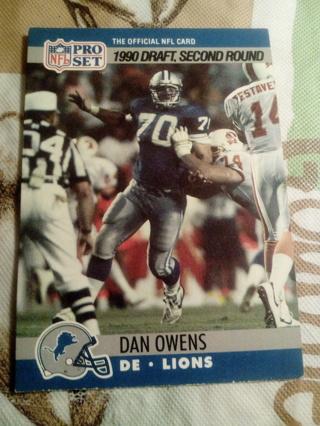NFL Pro Set #704 Dan Owens