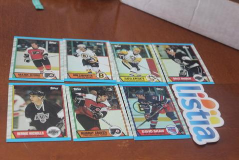 (7) 1989 1990 Topps Hockey Cards NHL