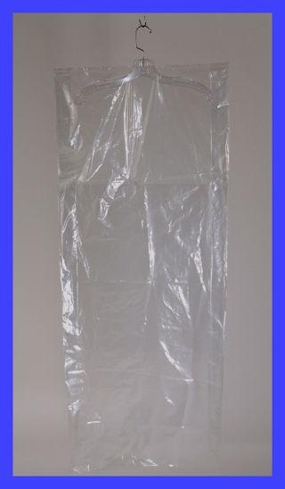GARMENT BAG Clear Plastic 21 x 6 x 56 inch 0.60 mil