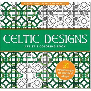 NEW Celtic Designs Adult Coloring Book Stress Relieving Designs FREE SHIPPING