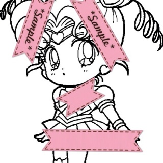 sailor moon coloring pagesset of 2chibi chibi moon and sailor venus - Sailor Moon Coloring Pages 2