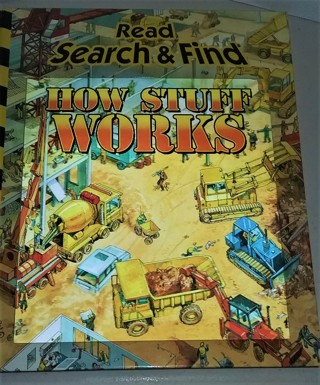 """2008 """" HOW STUFF WORKS"""" Read Search & Find 31 pages hardcover book"""