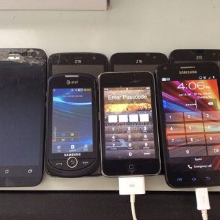 Cell phones lot