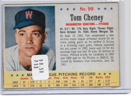 Please read Description - 1963 Post #99 Tom Cheney ~ Vintage