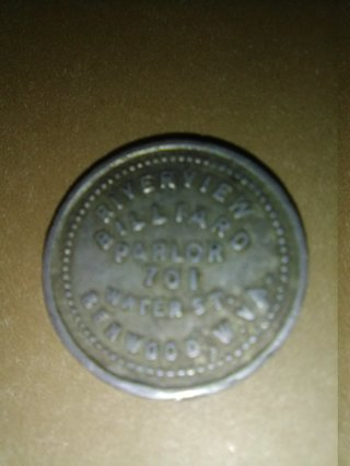 BILLIARD PARLOR 5 CENT TOKEN (OLD)