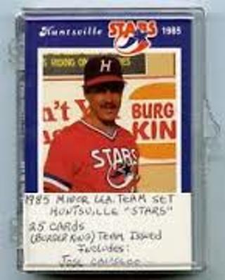 Free 1985 Huntsville Stars Burger King Baseball Card Set Sga No