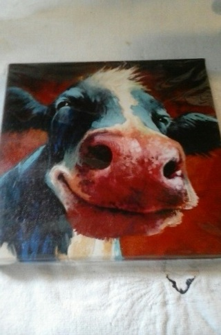 """"""" Moo"""" Oil Painting On Canvas-Please Read Everything"""