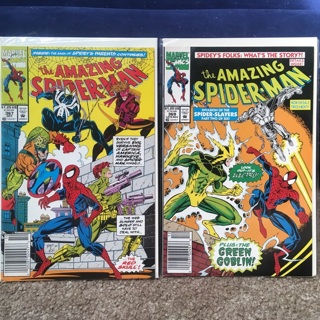 2 COMIC BOOKS⭐️AMAZING SPIDER-MAN⭐️#367 & #369⭐️BAGGED+BOARDED