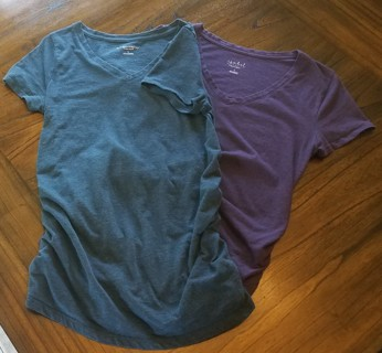 Two Maternity Tee Shirts - Size Small