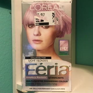 L'Oréal Féria Smokey Pastels 3X Highlights Multi- Faceted Shimmering Haircolor/Dye