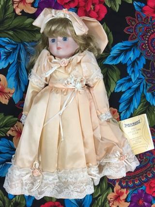 Vintage Porcelain Doll w/ Dress 1988 Seymour Mann Paulette