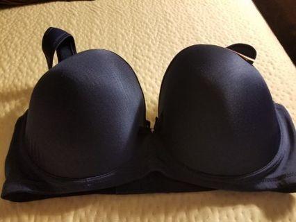 Angelina Soft Plush Push-Up Dark Blue Bra Size 44DDD, BNWT