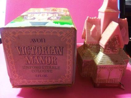 Avon Vtg Fragrance UNFORGETTABLE Cologne 5 oz in Victorian Manor Bottle