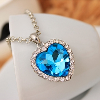 Titanic Heart of the Ocean Sweater Chain / Pendant Necklace Free Shipping to Canada and USA