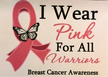 """Wear Pink for Warriors! - 3 x 5"""" MAGNET"""