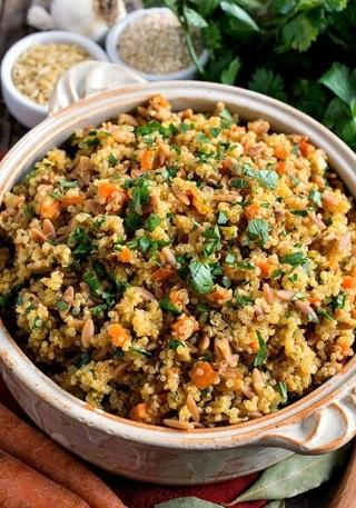 ❄(New) Quinoa Pilaf with Shredded Chicken Recipe ❄