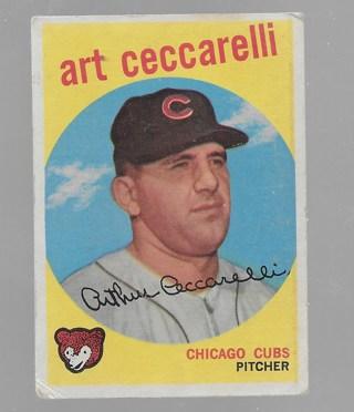 1959 Topps #226 Art Ceccarelli G Condition