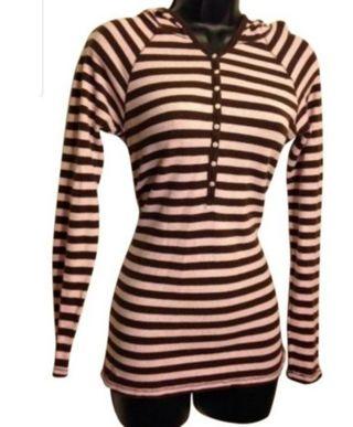gap striped hoodie Sz M