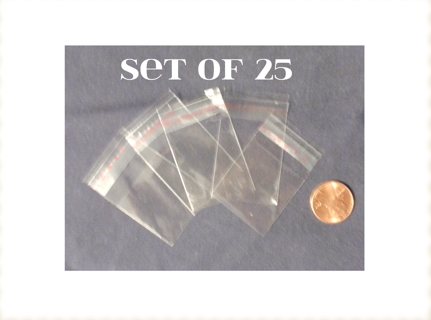 25 Small Reclosable Plastic Bags