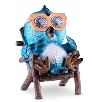 Owl Solar Garden Decorations Figurine | Outdoor LED Decor Figure