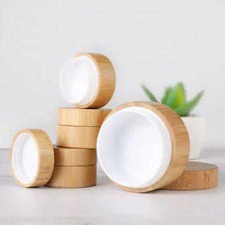 Bamboo Bottle Cream Jar Nail Art Mask Cream Refillable