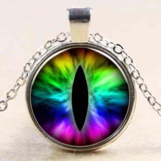 Colorful Eye Cabochon Pendant Necklace-d14