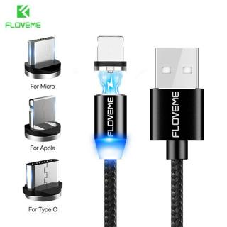Floveme Magnetic USB Charging Cable Charger cord for iPhone X Pad Samsung Huawei