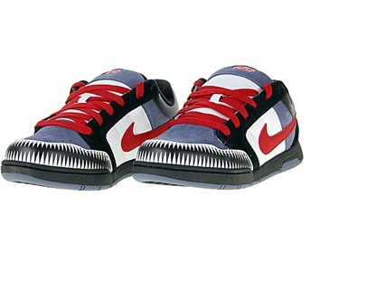 new style 39c65 9cec9 FREE  Nike Mogan Jr 6.0 shoes mens size 7 Blue Red White Black 312279-463 ~  shark teeth look on toes