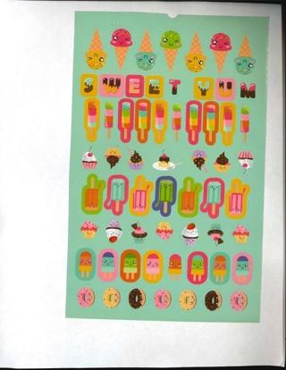 Kawaii Ice Cream Stickers # 2