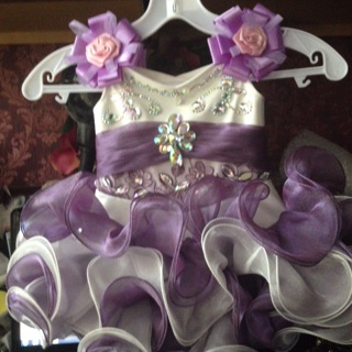 New Lilac Girls BABY Pageant Dress sz 1 - 2