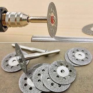 12x Useful Rotary Tool Circular Saw Blades Cut Wheel Discs Mandrel Dremel Cutoff