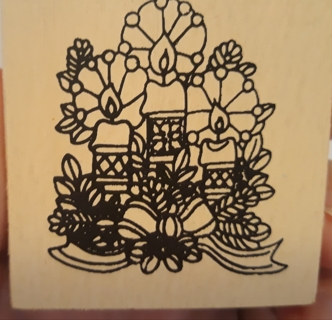 2 Cute Christmas Rubber Stamps