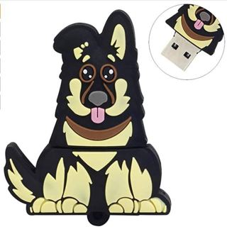 DISCOUNT! LEIZHAN Cute USB Flash Drive 16GB Cartoon Dog Pendrive