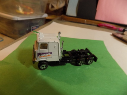 Die cast metal white Fed X tractor trailer cab