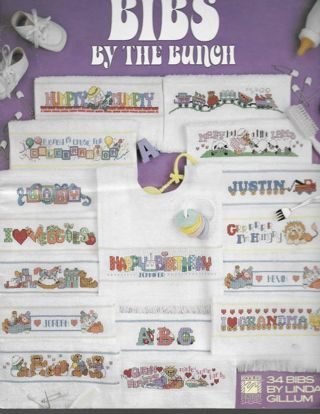 BIBS By The BUNCH Counted Cross Stitch Booklet 34 Designs