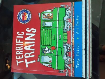 Childrens Book- Terrific Trains- softcover