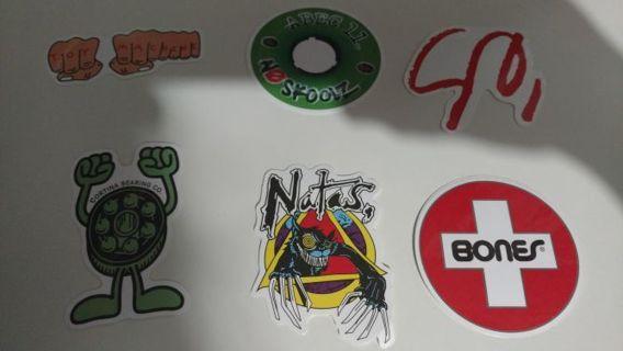 New tiered lap top skateboard 3 inch vinyl stickers, Natas Bones, cortina, ABEC 11 skoolz