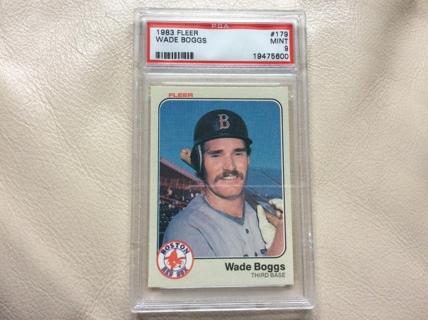 Free Graded Wade Boggs Rookie 1983 Fleer Baseball Card 179