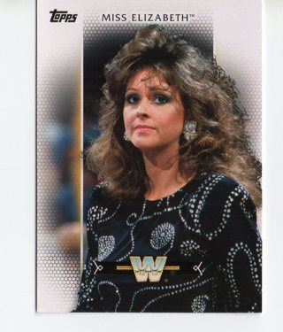 WWE Trading Card Of Miss Elizabeth