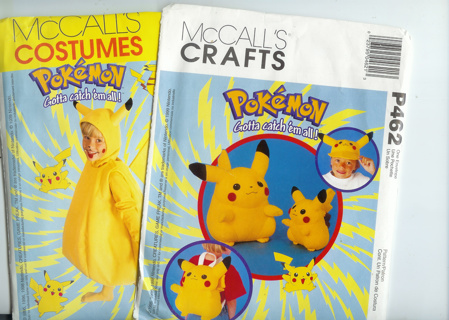 Free: Pokemon Costume, doll, hat and backpack patterns - Sewing ...
