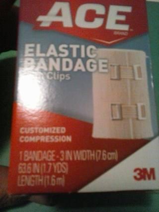 NIP- ACE ELASTIC BANDAGE W/ CLIPS