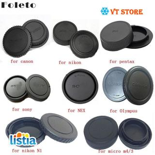 Foleto Camera Rear Cap Lens Cap Dust-proof Protect for Canon Eos Nikon N1 Sony Nex Pentax PK Olympus