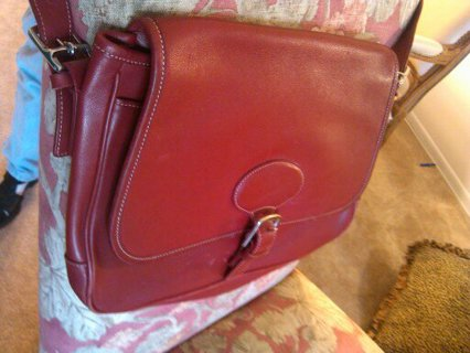 1c65baafef Coach 7750 Deep Red Leather Messenger Crossbody Shoulder. Parker Top  Handle. Women S Bags Coach