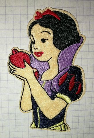 Princess Snow White Embroidered Cloth Iron On Patch