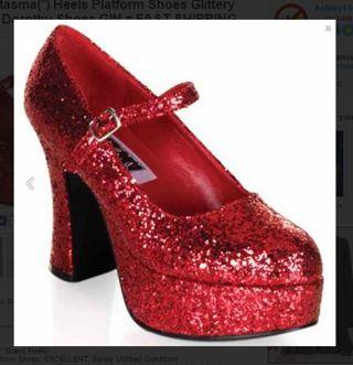 911d8a618d Free: Genuine Funtasma(*) Heels Platform Shoes Glittery RED Sparkly ...