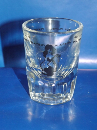 Vintage Playboy Solid Collectible Shot Glass